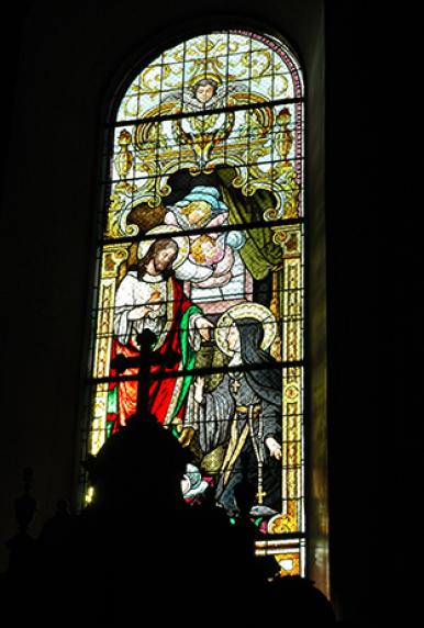 Vitrail église, Lutter