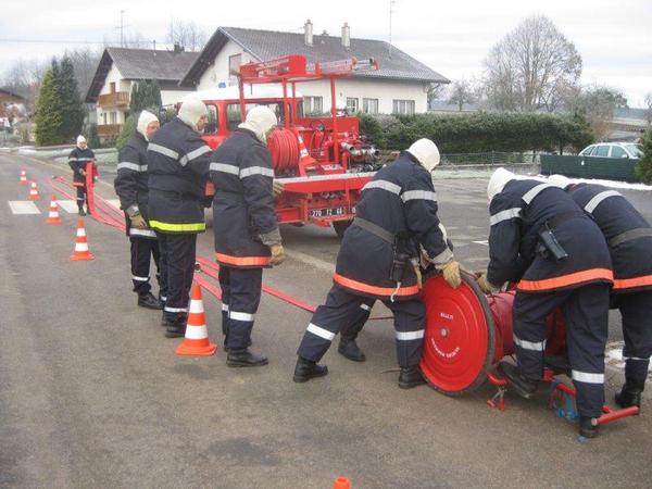 Sapeurs pompiers, commune de Lutter